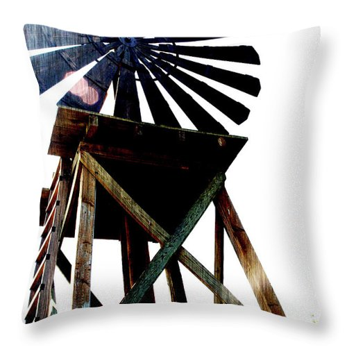 Windmill Throw Pillow featuring the photograph Midday by Linda Shafer