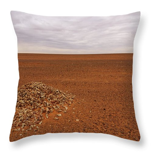 Landscape Throw Pillow featuring the photograph Middle Of Nowhere by Ivan Slosar