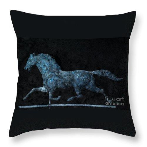 Weathervane Throw Pillow featuring the photograph Midnight Run - Weathervane by John Stephens