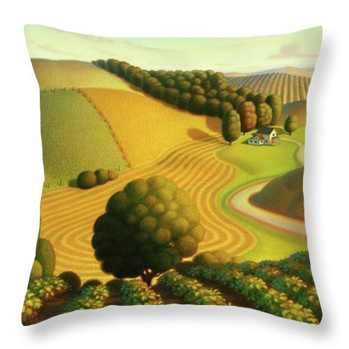 Midwest Vineyard Throw Pillow For Sale By Robin Moline