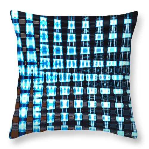 Mighty Lab Throw Pillow featuring the mixed media Mighty Lab by Pharris Art