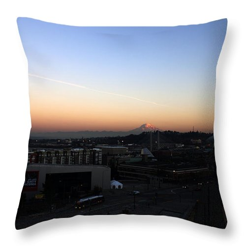 Tacoma Throw Pillow featuring the photograph Mighty Tacoma by Edward Hawkins II