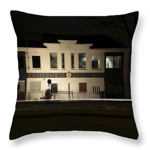Milk Factory In Hoogeveen Throw Pillow featuring the photograph Milk Factory by Ronald Jansen