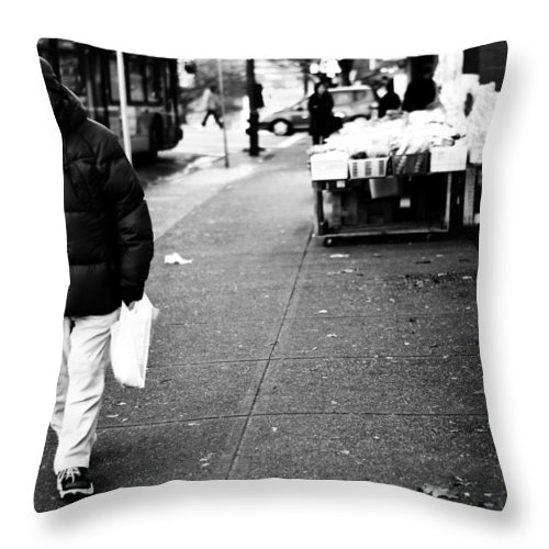 Vancouver Throw Pillow featuring the photograph Milk N Eggs by The Artist Project