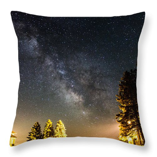 Milky Way Throw Pillow featuring the photograph Milky Way From Oldham South Dakota Usa by Aaron J Groen