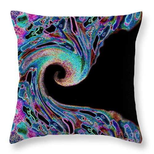 Milli Home Decorative Pillows : Milli Wave Spiral Throw Pillow for Sale by Expressionistart studio Priscilla Batzell