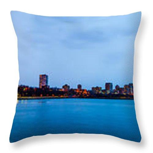 Milwaukee Throw Pillow featuring the photograph Milwaukee Skyline - Version 1 by Steven Santamour