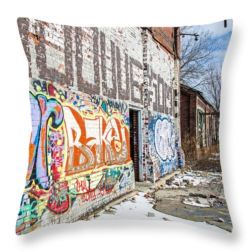 Milwaukee - Solvay Coke And Gas Company Throw Pillow featuring the photograph Milwaukee - Solvay Coke And Gas Company 14 by Susan McMenamin