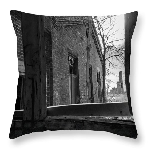 Milwaukee - Solvay Coke And Gas Company Throw Pillow featuring the photograph Milwaukee - Solvay Coke And Gas Company 8 by Susan McMenamin