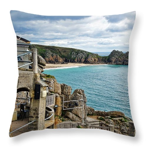 Minack Theatre Throw Pillow featuring the photograph Minack Theatre by Susie Peek