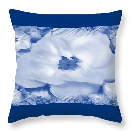 Mingles Throw Pillow featuring the digital art Mingles by Catherine Lott