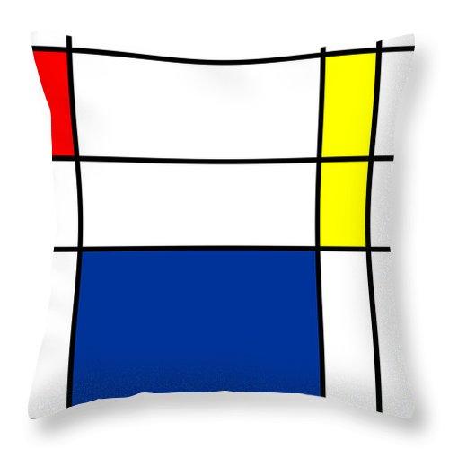 Minimalist Mondrian Throw Pillow featuring the digital art Minimalist Mondrian by Celestial Images