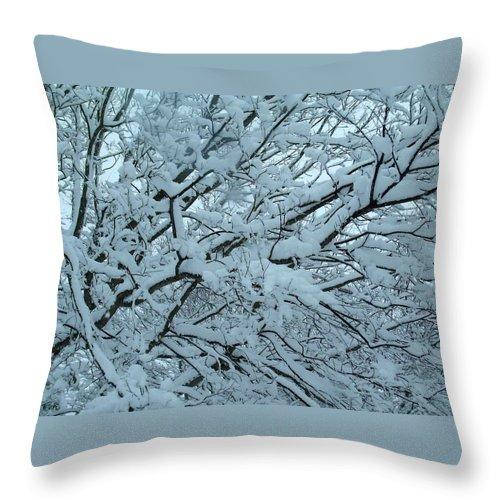Minnesnowta Throw Pillow featuring the digital art Minnesnowta by Christine Nichols