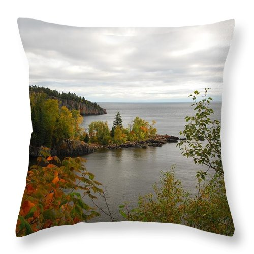 Landscape Throw Pillow featuring the photograph Minnesota North Shore by Cascade Colors