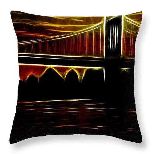 Bridge Throw Pillow featuring the photograph Minnesota Sunset by Ericamaxine Price