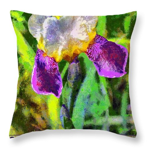 Jesus Throw Pillow featuring the digital art Miracles by Michelle Greene Wheeler