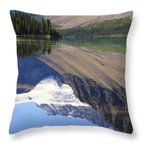 Banff National Park Throw Pillow featuring the photograph Mirror Lake Banff National Park Canada by Mary Lee Dereske