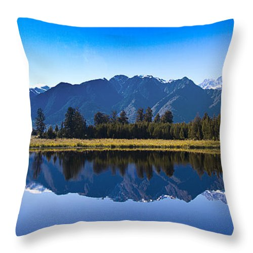 Lake Throw Pillow featuring the photograph Mirror Lake Panorama by Peter Lloyd