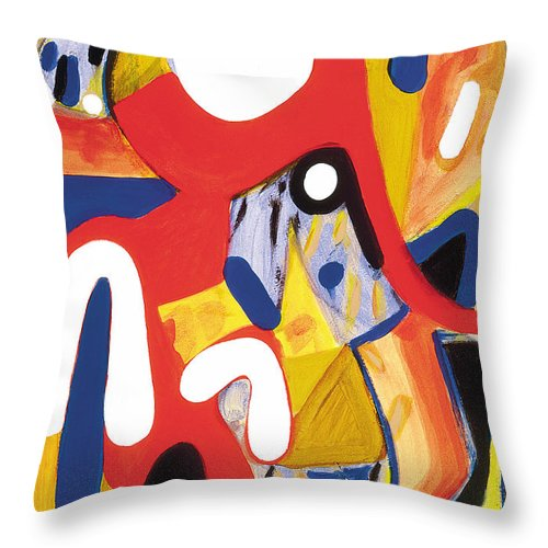 Abstract Art Throw Pillow featuring the painting Mirror Of Me 2 by Stephen Lucas