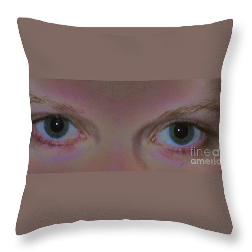 Mirror Throw Pillow featuring the photograph Mirror Of The Soul by PainterArtist FIN