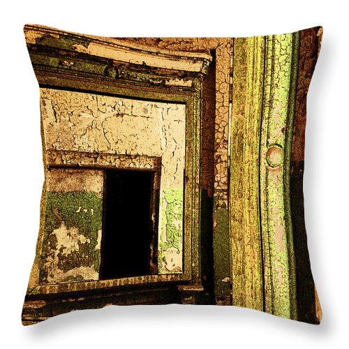Eastern State Penitentiary Throw Pillow featuring the photograph Mirror Within A Mirror by Paul W Faust - Impressions of Light