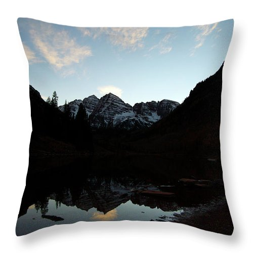 Jeremy Rhoades Throw Pillow featuring the photograph Mirrored Bells by Jeremy Rhoades