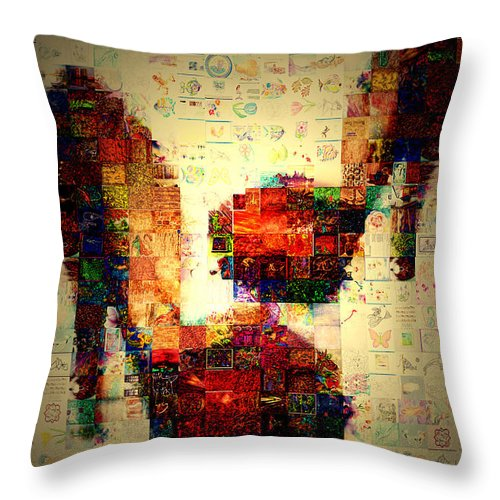 Photography Throw Pillow featuring the photograph Misbehavin Shoes by Paula Ayers
