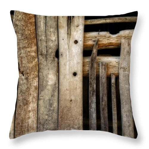 Boards Throw Pillow featuring the photograph Missing Pieces by Cathy Shiflett