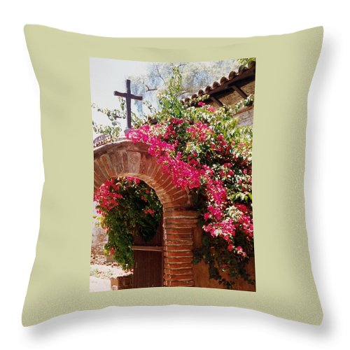 Mission Throw Pillow featuring the photograph Mission Series I by Jacqueline Russell