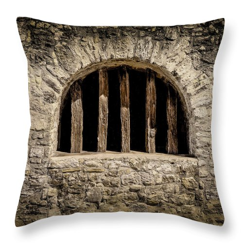 Stone Throw Pillow featuring the photograph Mission Window by David Downs