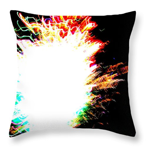 Abstract Throw Pillow featuring the photograph Missy by Laurette Escobar