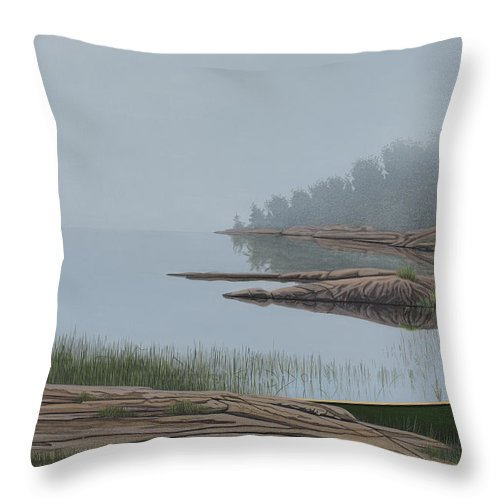 Landscapes Throw Pillow featuring the painting Mistified by Kenneth M Kirsch