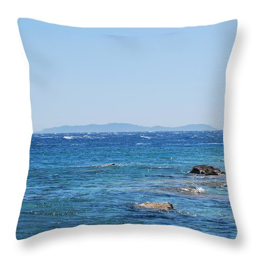 Mistral Wind Throw Pillow featuring the photograph Mistral.force 6 by George Katechis
