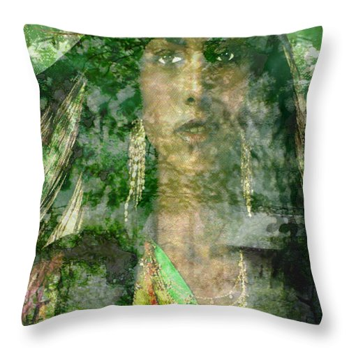 American Indian Throw Pillow featuring the digital art Mistress Of The Wind by Seth Weaver