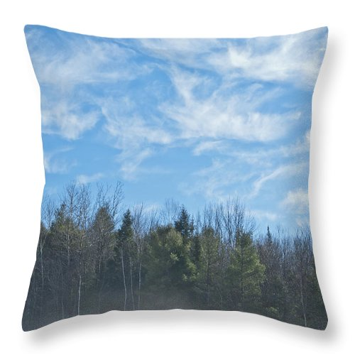 Fog Throw Pillow featuring the photograph Misty Landscape by Alana Ranney