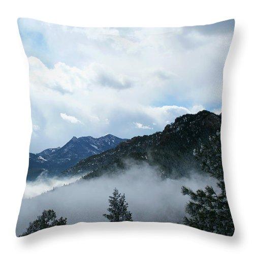 Mountain Throw Pillow featuring the photograph Misty Mountain Colorado by Ric Bascobert