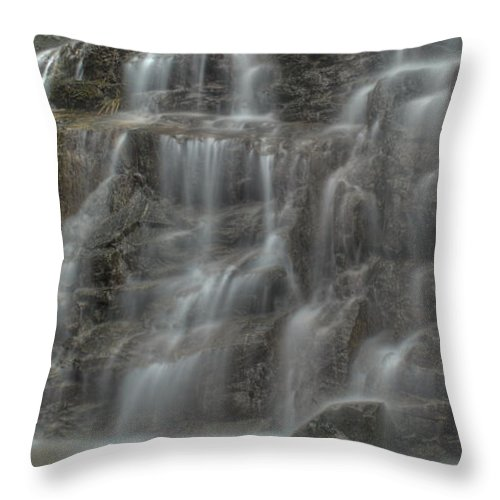 Waterfall Throw Pillow featuring the photograph Misty by Rod Wiens