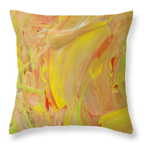 Original Throw Pillow featuring the painting Mixed Up Moods by Artist Ai