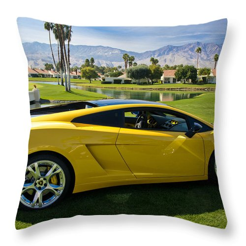 Lamborghini Throw Pillow featuring the photograph Mmmm California by Doug Matthews