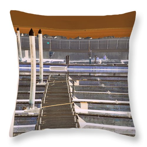 Throw Pillow featuring the photograph Mocha Dock 2 by Richard Ricci