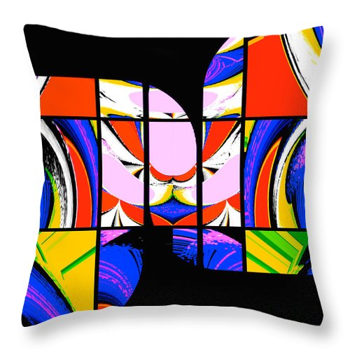 Geometric Art Throw Pillow featuring the photograph Mod 082 by Aurelio Zucco
