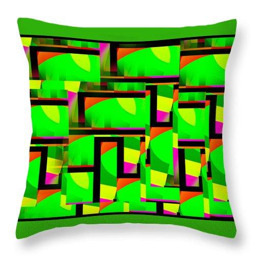 Geometric Art Throw Pillow featuring the digital art Mod 149 by Aurelio Zucco