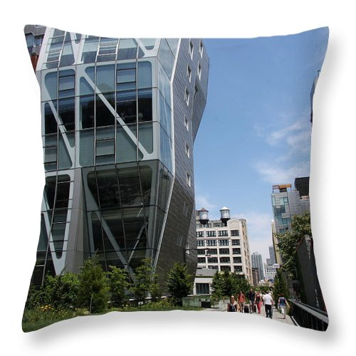 Modern Architecture Throw Pillow featuring the photograph Modern Architecture - Nyc by Christiane Schulze Art And Photography
