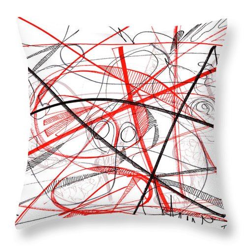 Modern Drawing Throw Pillow featuring the drawing Modern Drawing Seventy-two by Lynne Taetzsch