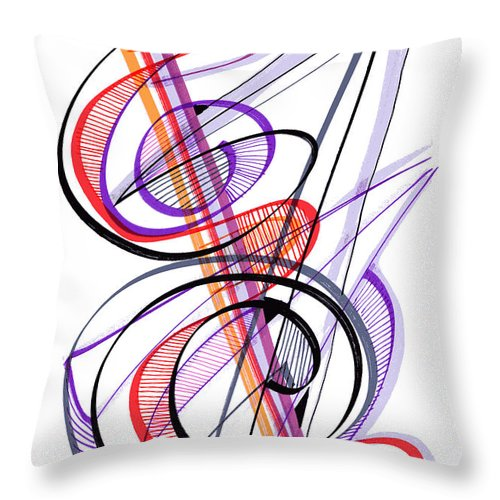 Modern Drawing Throw Pillow featuring the drawing Modern Drawing Sixty-two by Lynne Taetzsch