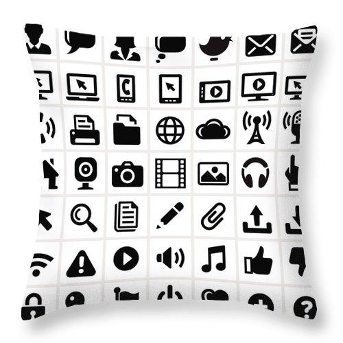 Internet Throw Pillow featuring the digital art Modern Technology Internet Social by Bubaone