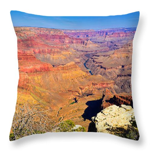 Grand Canyon Throw Pillow featuring the photograph Mohave Pt. Grand Canyon by Greg Norrell