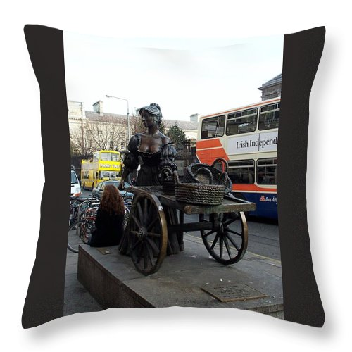 Molly Malone Throw Pillow featuring the photograph Molly Malone by Barbara McDevitt