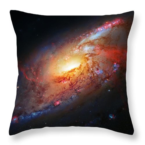 Universe Throw Pillow featuring the photograph Molten Galaxy by Jennifer Rondinelli Reilly - Fine Art Photography