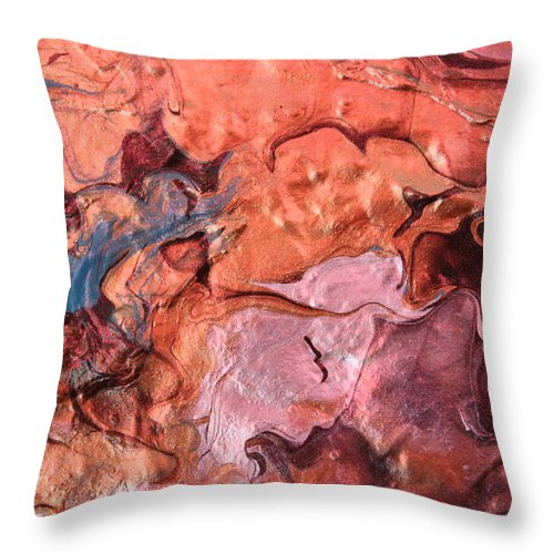 Modern Abstract Throw Pillow featuring the painting Molten by Shelly Sexton
